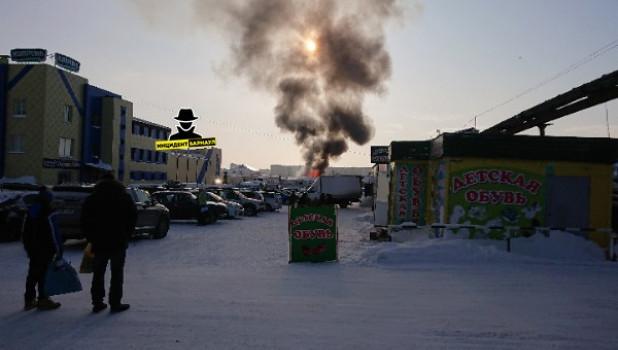Пожар на ул. Эмилии Алексеевой.