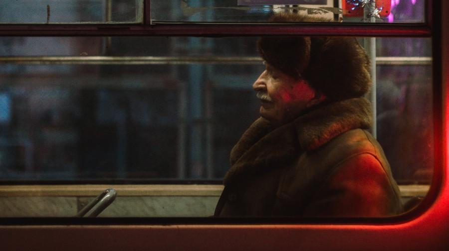 Общественный транспорт. Зима