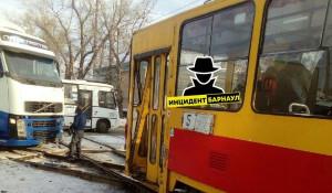 ДТП с трамваем в Барнауле.