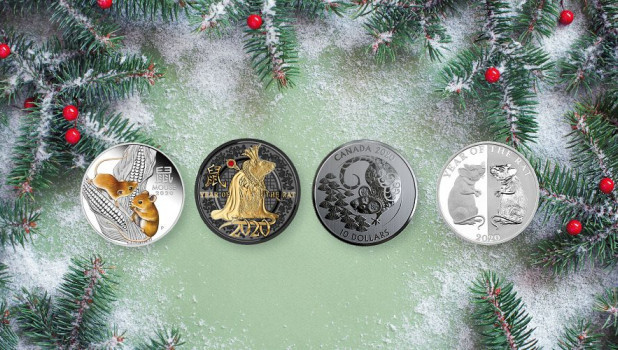 Россельхозбанк представил коллекцию новогодних монет