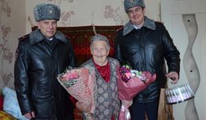 Руководители ГУ МВД по Алтайскому краю поздравили Варвару Прокопьевну Казанцеву.
