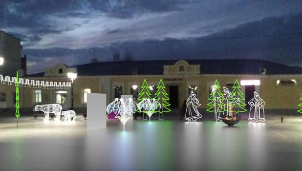 Новогодний городок на пешеходной ул. Мало-Тобольской