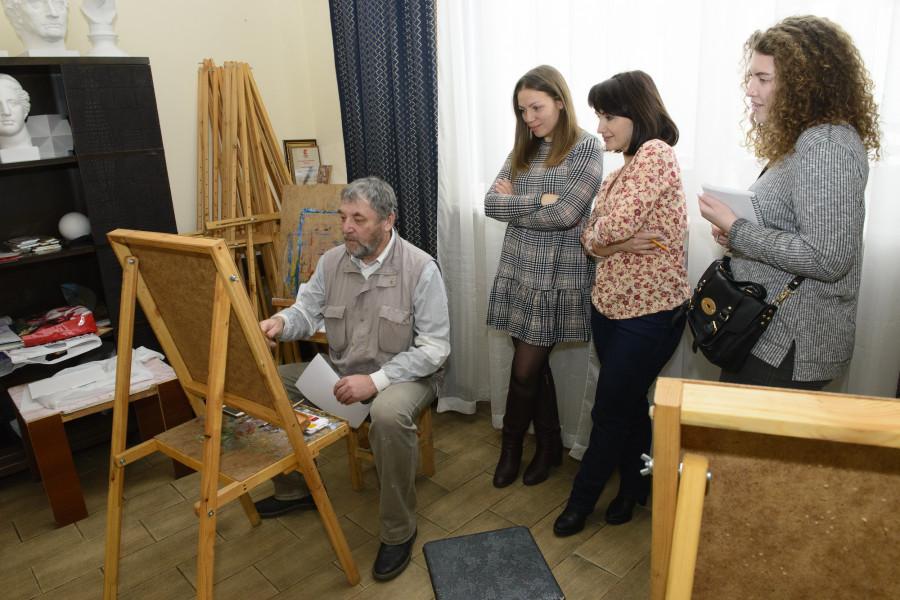 Мастер-класс на площадке галереи «Нагорная».