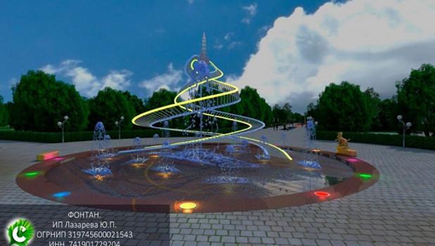 Проект фонтана с Белкой и Стрелкой.