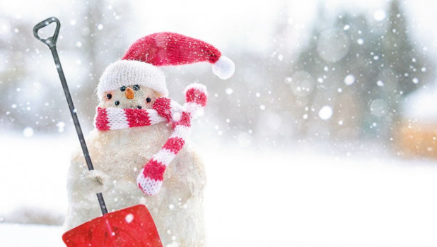 Чемпионат по лепке снеговиков в Барнауле