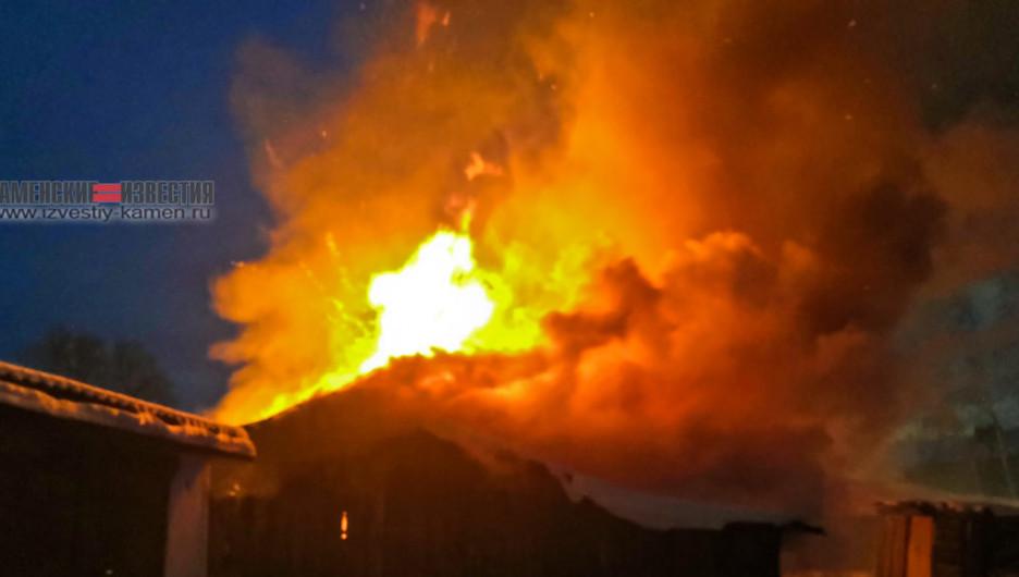 Пожар в Камне-на-Оби.