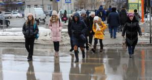 Дождь и слякоть в Барнауле. 6 декабря 2019 года.
