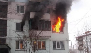Пожар в Бийске 9 декабря 2019.