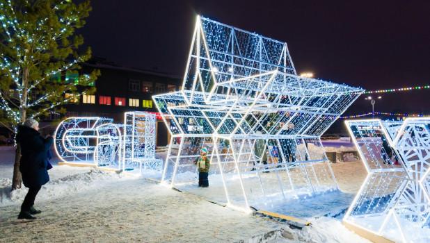 Барнаул готовится к Новому году.