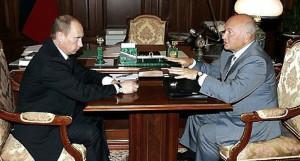Юрий Лужков и Владимир Путин, 26 июля 2006 года