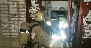 Пожар в Новоалтайске.