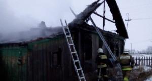 Пожар в селе Глубокое.