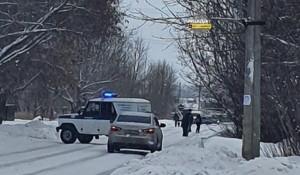 Место, где сбили насмерть новосибирского полицейского