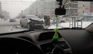 ДТП. Барнаул. Три автомобиля.