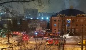 Барнаул. Пожар в здании «Агроцентра».