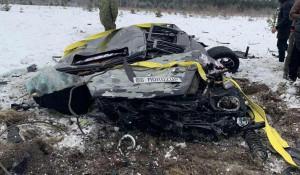 Карелия. Mercedes Gelandewagen сбросили с вертолета.