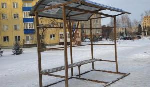 Омск. Остановка общественного транспорта.