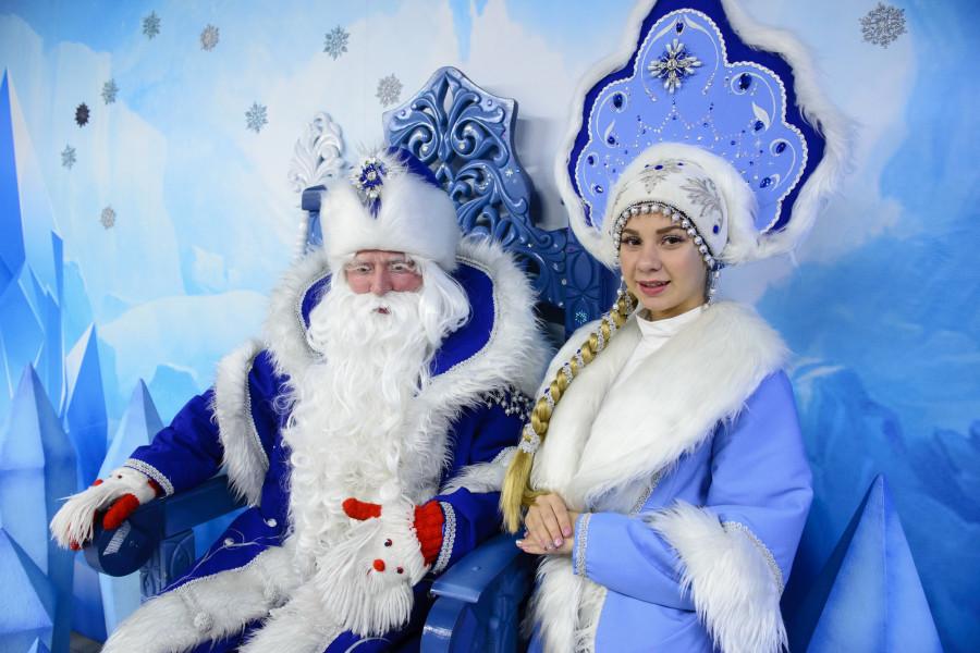 В алтайской резиденции Деда Мороза.