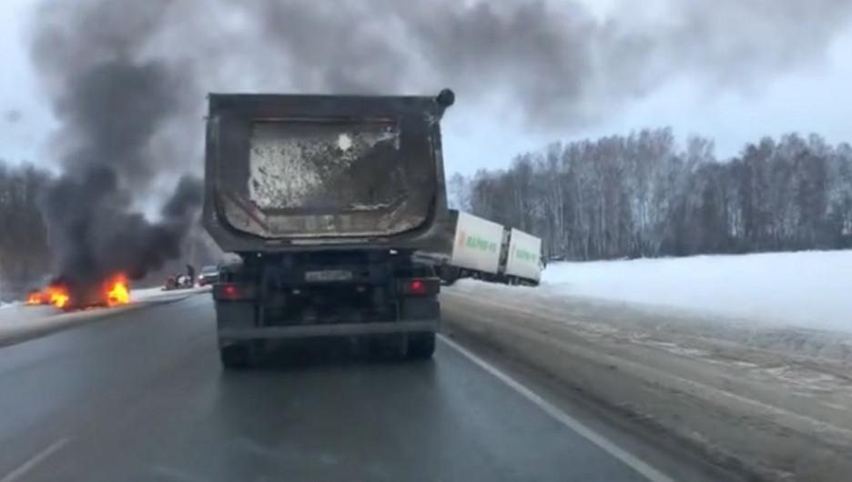 ДТП с грузовиком в Кемеровской области.