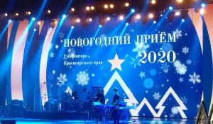 Губернатор Красноярского края устроил новогодний прием.