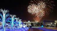 28 декабря в Барнауле на площади Сахарова открылась краевая новогодняя елка.