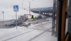 Коммунальная авария на улице Малахова. Барнаул.