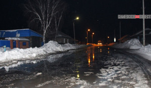 Затопленная улица в Камне-на-Оби.