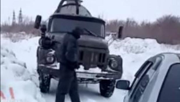 Ассенизаторская машина. Рубцовск.