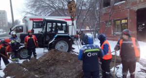 Авария на теплоносителе по улице Юрина. Барнаул (18 января 2020 год).
