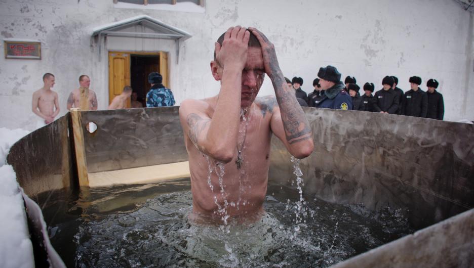 Крещение в ИК-3 УФСИН России по Алтайскому краю.