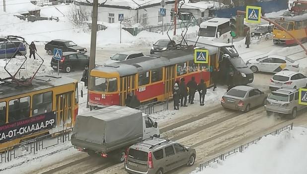 Авария на рельсах.