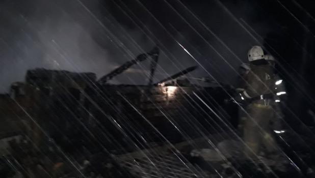 Пожар в Томской области.
