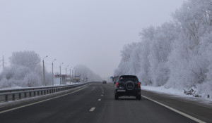 Трасса зимой.