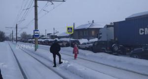 Пробка из-за ДТП на ул. Аванесова.