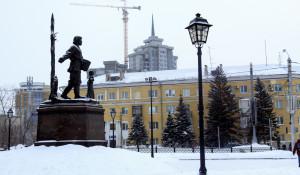 """ЖК """"Столичный"""". Вид на жилищный комплекс и Барнаул."""