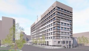 Проект модернизации офисного здания на ул. Папанинцев.