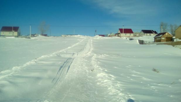 Поселок Центральный в снегу. Пригород Барнаула, январь 2020 года.