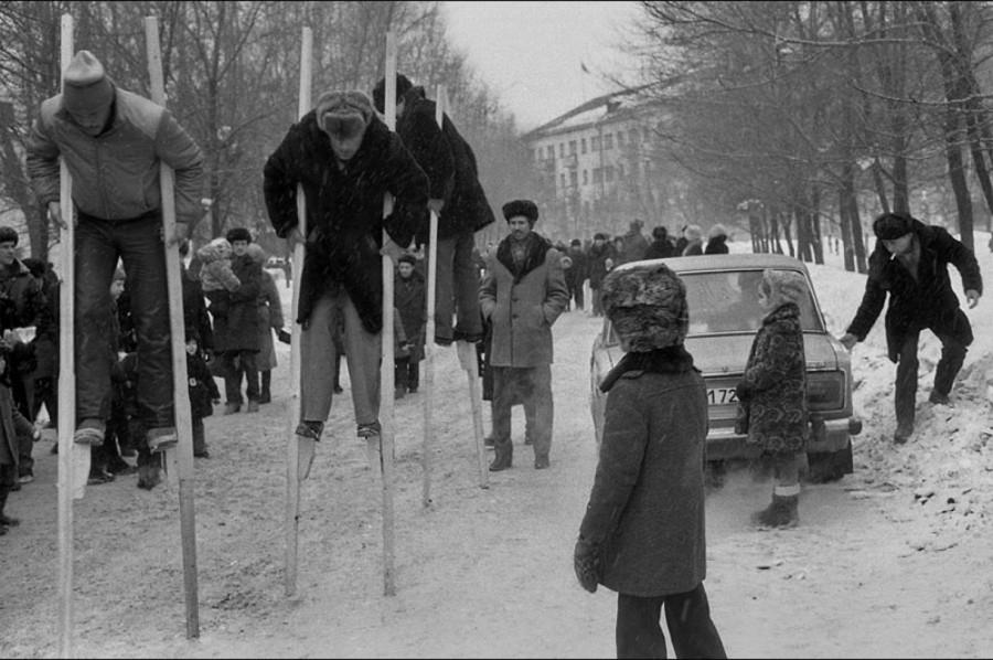 Владимир Воробьев. Праздник Масленицы у шахтеров. Новокузнецк. 1984.
