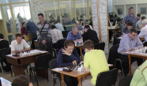 На Чемпионате СФО по шахматам.