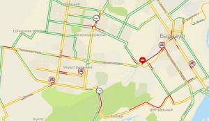 Пробки в Барнауле 12 февраля.
