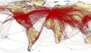 Карта распространения коронавируса, согласно прогнозам ученых.