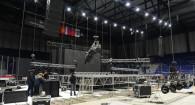 Подготовка Дворца спорта к первому концерту