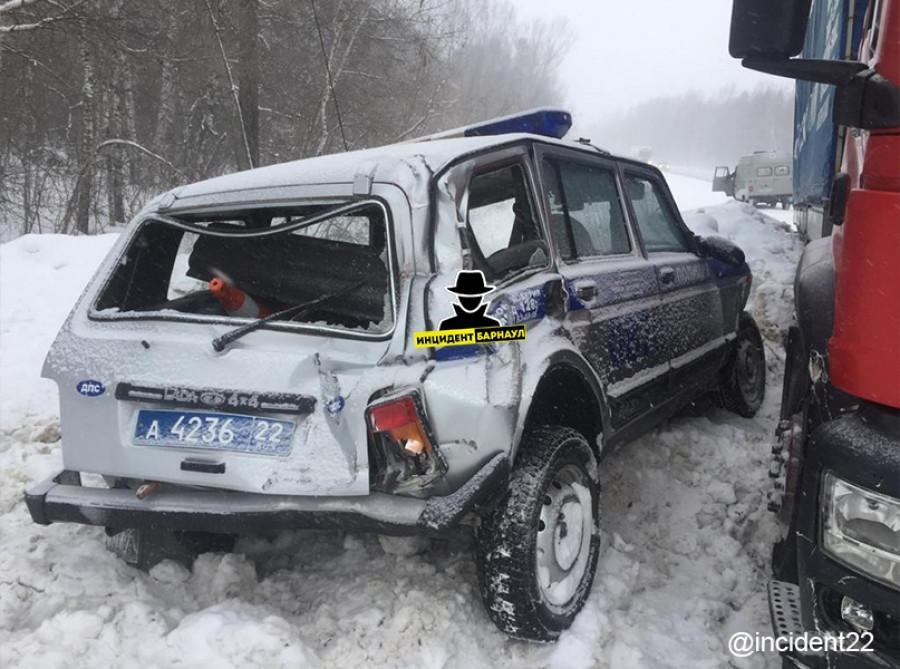 ДТП с полицейской машиной.