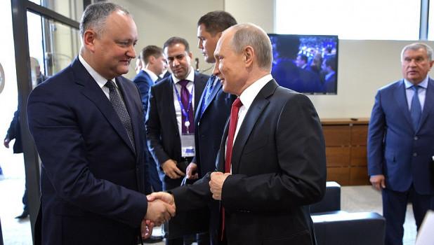 Игорь Додон и Владимир Путин.