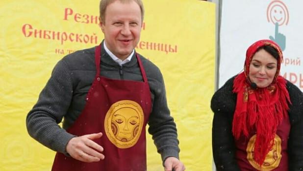 """Виктор Томенко на праздновании """"Сибирской Масленицы"""""""