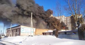 Пожар в Барнауле 11 марта.
