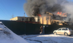 Пожар на ул. Луговая, 4, 11 марта 2020.