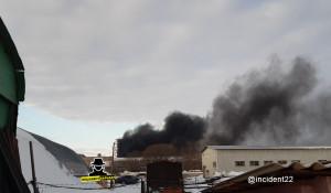Пожар на ул. Попова 12 марта 2020.