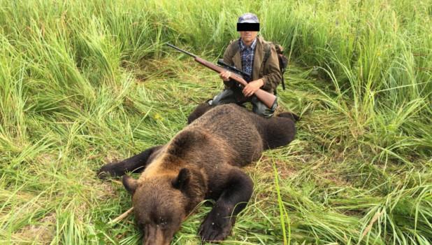 Охотник на медведя. Новосибирская область.