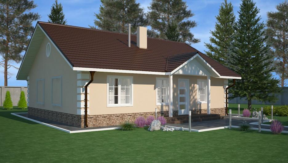 Индивидуальный жилой дом (визуализация).